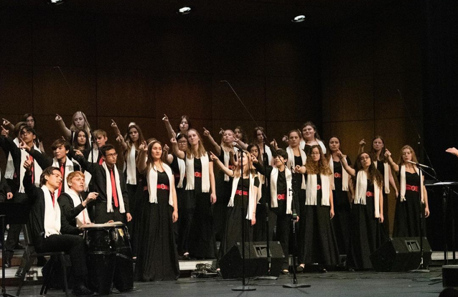 Choir performed their last concert in December 2019. The spring concert, unfortunately, had to be canceled due to COVID-19. PHOTO BY RIDER SULIKOWSKI.