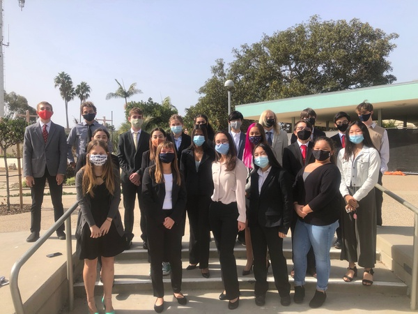 Members of the 2020-2021 Mock Trial team. Photo from Meena Kabbani
