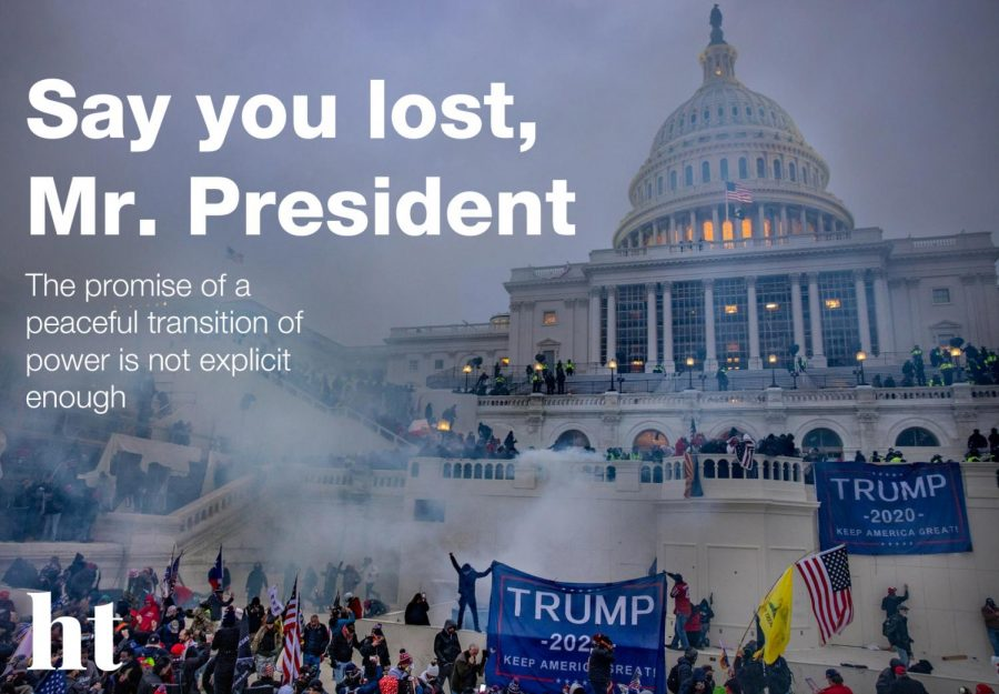 Say you lost, Mr. President