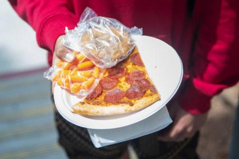 Student taking advantage of free lunch option. Photo by Rider Sulikowski