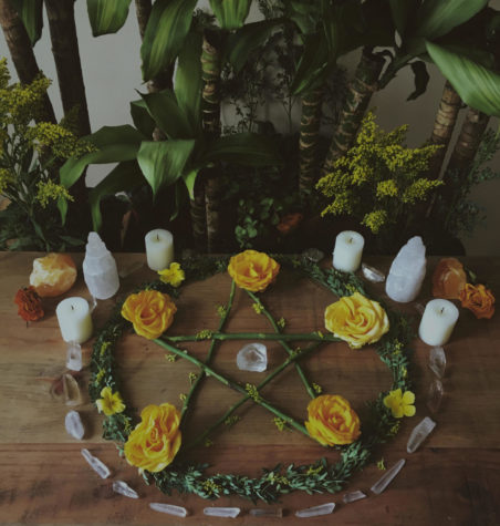 A Wiccan altar. PHOTO COURTESY OF CREATIVE COMMONS